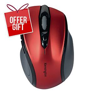 Kensington Profit Wireless Mid Size Mouse With Nano Receiver Ruby Red