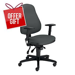 NOWY STYL RAVEL OFFICE CHAIR DARK GRAY