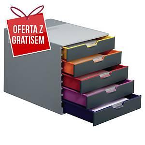 Moduł archiwizacyjny DURABLE Varicolor, 5 szuflad