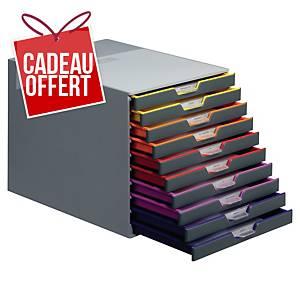 Module de classement Durable Varicolor - 10 tiroirs - coloris assortis
