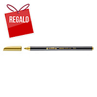 Rotulador con punta de fibra EDDING 1200 color dorado