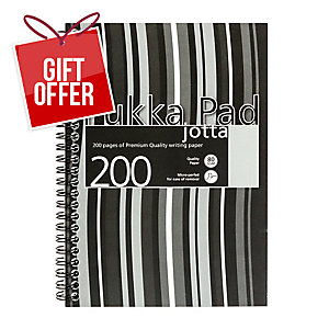 PUKKA JOTTA PAD A5 80G 200 PAGE BLACK - PACK OF 3