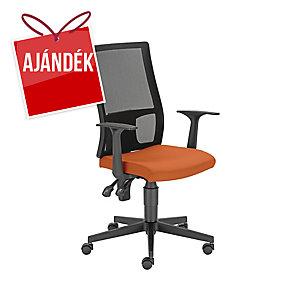 Filo irodai szék, hálós, permanens mechanika, narancssárga