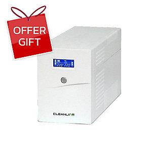 CLEANLINE D-1500K UPS 1500VA/900W WHITE