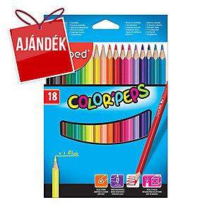 Maped színes ceruzák, 18 darab/csomag