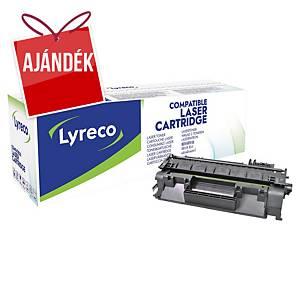 Lyreco kompatibilis toner lézernyomtatókhoz HP 80A (CF280A), fekete