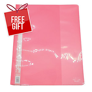 BANTEX PINK A4 MANAGEMENT FILE - PACK OF 12