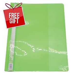 Bantex A4 Management File - Lime - Pack of 12