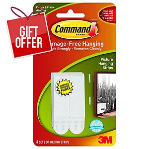 Command Picture Hanging Strips Medium - Pack 4