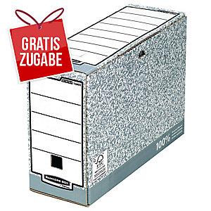 Archivboxsystem Fellowes 1080501 System, Maße: 10 x 26 x 31,5 cm, 10 Stück, grau