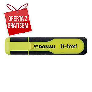 Zakreślacz fluorescencyjny DONAU 7358001PL-11, żółty