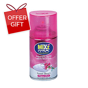 MIXZ HYGIENIC AUTOMATIC REFILL SPRAY SWEET DREAM 300 MILLILITERS