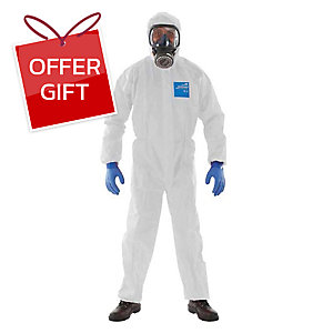 MICROGARD 2000 COVERALL CHEMICAL PROTECTION LARGE WHITE