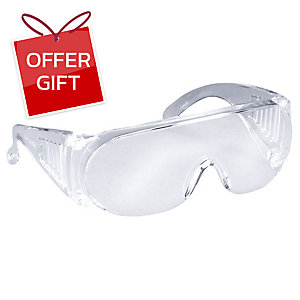 3M 1611 EYEGLASSES PROTECTOR SAFETY GLASSES CLEAR LENS