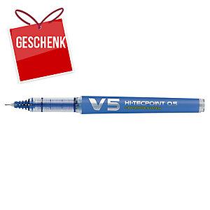 Pilot V5 Hi-Tecpoint Roller nachfüllbar 0,5 mm, blau