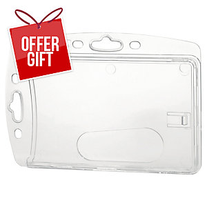 Durable Proximity Card Holder 54X85mm Transparent - Pack of 10