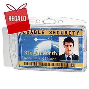 Pack de 10 identificadores dobles DURABLE 8924 extrarresistentes transparente