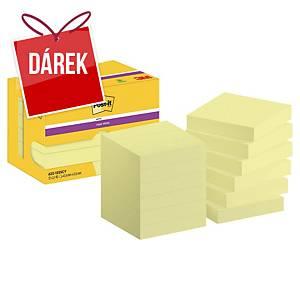 Super Sticky bločky 3M Post-it® 622, 51x51mm, žluté, bal. 12 bločků/90 lístků