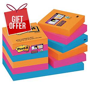 Post It Super Sticky Bangkok Notes 51X51mm Pack of 12