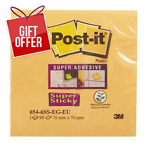 Post It Super Sticky Notes 76x76mm Bangkok - Pack Of 6
