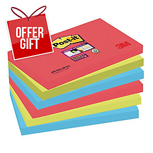 Post It Super Sticky Bora Bora Notes 76X127mm Pack of 6