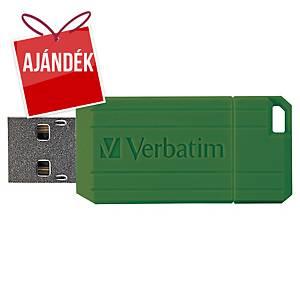 VERBATIM PINSTRIPE USB PENDRIVE 64GB zöld