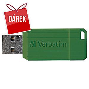 USB klíč Verbatim Pinstripe 64 GB zelený