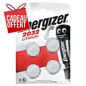 Pack de 4 piles boutons lithium Energizer CR2032 3V