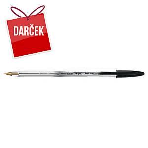 Guľôčkové pero Bic Cristal čierne stylus