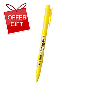BIC BRITE LINER TWIN TIP HIGHLIGHTER YELLOW