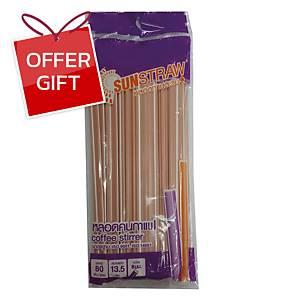 Stirrers Straw Plastic 13.4 Centimetres Pack of 80