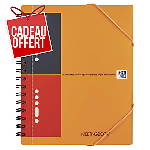 Cahier spirale Oxford Meetingbook A5+ - 160 pages - ligné