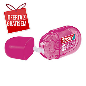 Korektor w taśmie TESA Mini Roller ecoLogo, 5 mm x 6m, różowy
