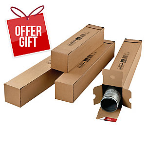 Rect. Postal Tube Self-Sealing 430X108X108mm Pack Of 10