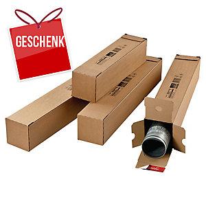ColomPac® rechteckige Versandhülsen, 610 x 108 mm x 108 mm, braun, 10 Stück