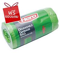 ถุงขยะพลาสติกชนิดม้วน 18X20   เขียว แพ็ค 40