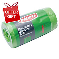 ROLL WASTE BAG 18X20 INCHES GREEN PACK OF 40