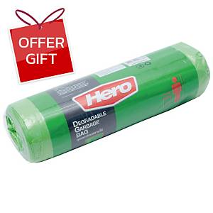 HERO ROLL WASTE BAG 30X40 INCHES GREEN PACK OF 12