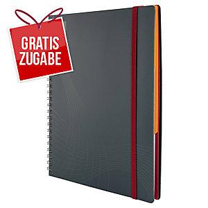 Avery Zweckform 7015 Kunststoff-Cover Notizbuch notizio, kariert, DIN A5, grau