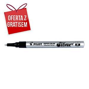 Marker olejowy PILOT Super Color F, okrągła końcówka, srebrny