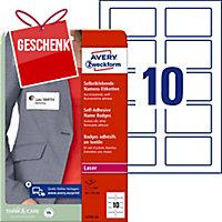 Textiletiketten Avery Zweckform L4785, 50x80 mm, Acetat-Seide, Pk. à 200 Stk.