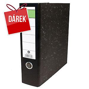 Pákový pořadač Hit Office, se zelenou etiketou, 8 cm, A4, černý