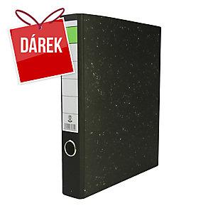 Pákový pořadač Hit Office, se zelenou etiketou, 5 cm, A4, černý