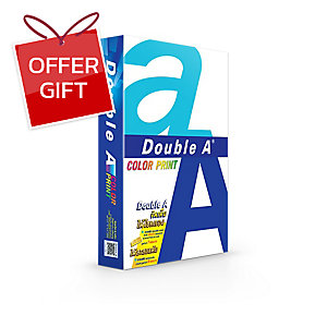 DOUBLE A COLOUR PRINT COPY PAPER A4 90G WH - REAM OF 500 SHEETS
