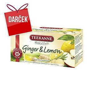 Čaj Teekanne Premium zázvor & citrón, 20 vrecúšok à 1,75 g