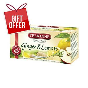 BX20 TEEKANNE PREM TEA BAG GINGER LEMON
