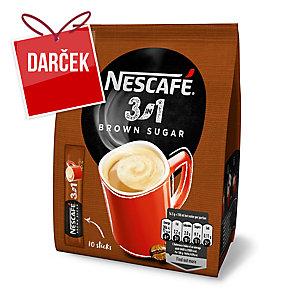 Rozpustná káva Nescafé 3v1 s hnedým cukrom, (10x16.5g)