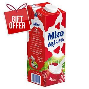 MIZO MILK UHT 2,8% 1L WITH CAP