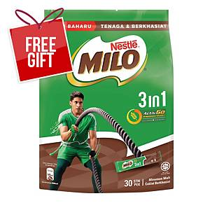 Milo Fuze 3 in 1 Sticks Nestle 33g - Pack of 30