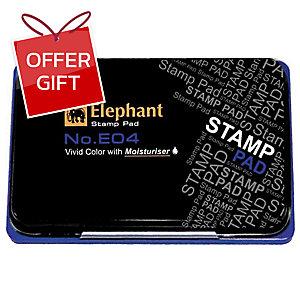 ELEPHANT E04 STAMP PAD 4.8CM X7CM BLUE